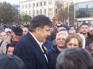 До Кропивницького завітав відомий політик Міхеіл Саакашвілі (ФОТО, ВІДЕО)