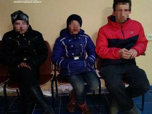 Кропивницькі патрульні затримали трьох неповнолітніх мандрівників