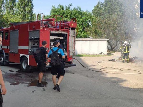 Кропивницький велопатруль оперативно відреагував на пожежу