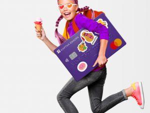 ПриватБанк запустив редизайнові дитячі картки Юніора з наліпками