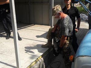 У мережі з'явилося відео демонтажу кіоску на 5/5 у Кропивницькому
