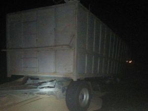 На Новоукраїнщині на трасі загорілася вантажівка