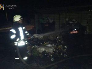 Кропивницький: У міському саду серед ночі зайнялося сміття у двох контейнерах