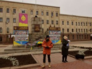 На кропивницьких ативістів склали адмінпротокол за участь у акції у День Гідності і Свободи