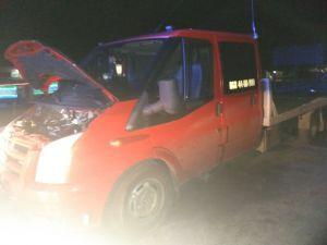 Кіровоградщина: На трасі загорілося вантажне авто «Ford Transit»