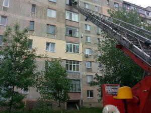 На Кіровоградщині загорівся балкон у багатоповерхівці