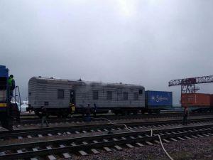 У потязі під час пожежі загинув 30-річний чоловік