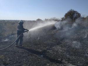 На Кіровоградщині загоряються сміття, залишки врожаю, суха трава