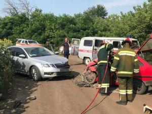 На Новоукраїнщині сталася аварія за участі двох легковиків