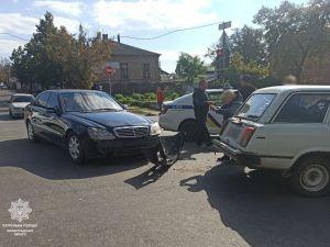 На Кропивницького сталася аварія за участі легковиків