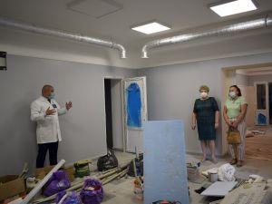 У лікарні швидкої медичної допомоги триває ремонт (ФОТО)