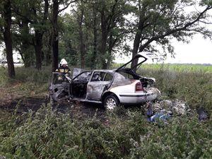 На Кіровоградщині згоріли два автомобілі
