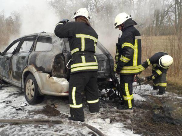 У Кіровоградському районі загорівся Chevrolet Lacetti