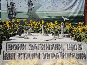 Кропивницький: Рідні полеглих героїв зібрали врожай пшениці на полі пам'яті