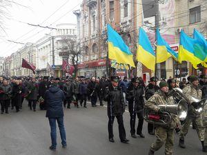 Близько півтисячі людей долучилися до громадської ходи з вшанування воїнів-інтернаціоналістів
