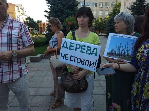 «Дерева – не стовпи»: активісти Кропивницького вийшли на мітинг (ФОТО)