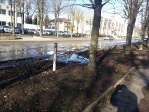 Третій порив труби за вихідні: У Кропивницькому з'явився ще один фонтан (ВІДЕО)