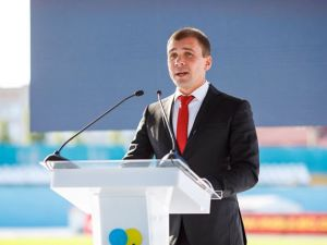 Артем Стрижаков выступил с откровенною речью на стадионе «Зирка» (ФОТО)