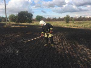 Кіровоградська область: Вогнеборці гасять стерню на полях