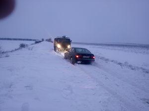 Кіровоградщина: На трасах області за добу застрягло 57 авто (ФОТО)