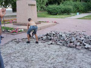 У Кропивницькому почали реконструкцію скверу Шевченка (ВІДЕО)