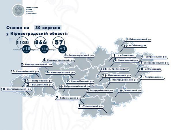 Кіровоградська область: Кількість хворих на коронавірус все збільшується
