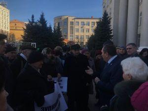 У Кропивницькому активісти вийшли на акцію проти підняття тарифів
