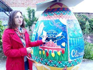 Що сталося з двометровим мандрівним яйцем-райцем, яке розмалювали у Кропивницькому? (ВІДЕО)