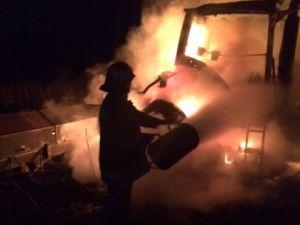 На Голованівщині у полі зайнявся трактор