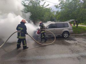 Кропивницький: На Миколаївці зайнявся Nissan Х-trail