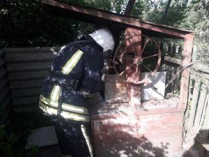На Кіровоградщині бідолашний кіт потрапив до криниці