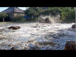 Кропивницький: Кущівку затопило каналізаційними  водами (ВІДЕО, ФОТО)