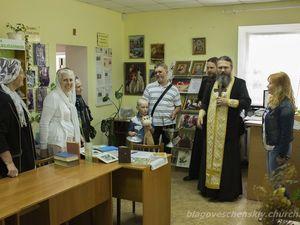 Духовенство і віряни Благовіщенського храму вітають містян зі святом Вознесіння Господнього
