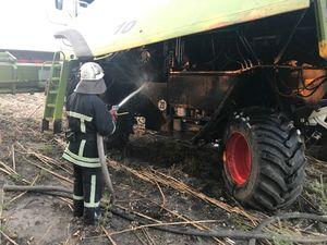 На Кіровоградщині під час збирання врожаю загоряються комбайни