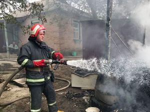 Кіровоградська область: Горять лазні, сміття і сараї