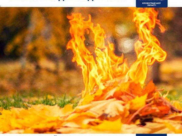 Поліція Кіровоградщини виявлятиме паліїв листя