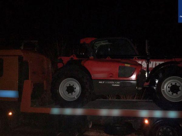 Кропивницький: Патрульні зупинили водія, який перевозив навантажувач без документів