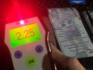 Кропивницькі патрульні затримали водія напідпитку