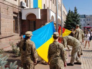 У Кропивницькому урочисто підняли державний та обласний прапори (ФОТО, ВІДЕО)