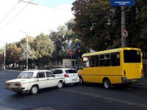 Кропивницький: У центрі міста сталася ДТП за участі трьох авто