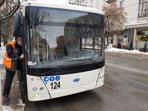 У Кропивницькому представили п'ять нових тролейбусів з автономним ходом (ФОТО)