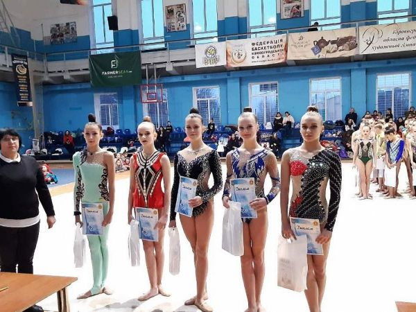 Кропивницькі гімнастки здобули п'ять медалей на обласному чемпіонаті