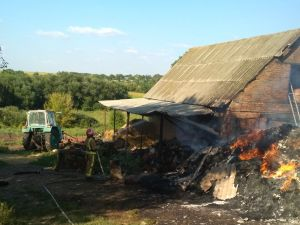За  минулу добу на Кіровоградщини сталося десять пожеж