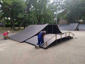 Кропивницький: У Ковалівському парку відремонтували скейт-майданчик