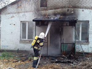 У Кропивницькому у дачному кооперативі «Комунальник» загорівся будиночок