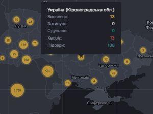 На Кіровоградщині значно збільшилась кількість хворих на коронавірус