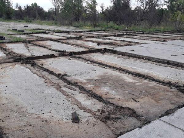 У Кропивницькому невідомі демонтують злітну смугу (ФОТО)