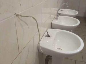 Викрали крани, 30 рулонів паперу та форму працівника. Поліція розшукує туалетних крадіїв (ФОТО)