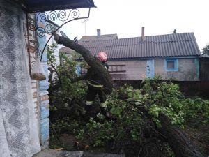 Як рятувальники Кіровоградщини усувають наслідки буревію