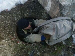 Кіровоградщина: Безпритульний пес потрапив до оглядового колодязя (ФОТО)